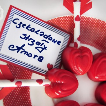 Papierowe słomki - Walentynki