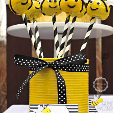 Cake Pops - Ciastka na patyku - Urodziny Pszczółkowe Bee Party