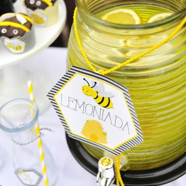 Lemoniada - Słoik z kranikiem - Urodziny Pszczółkowe Bee Party