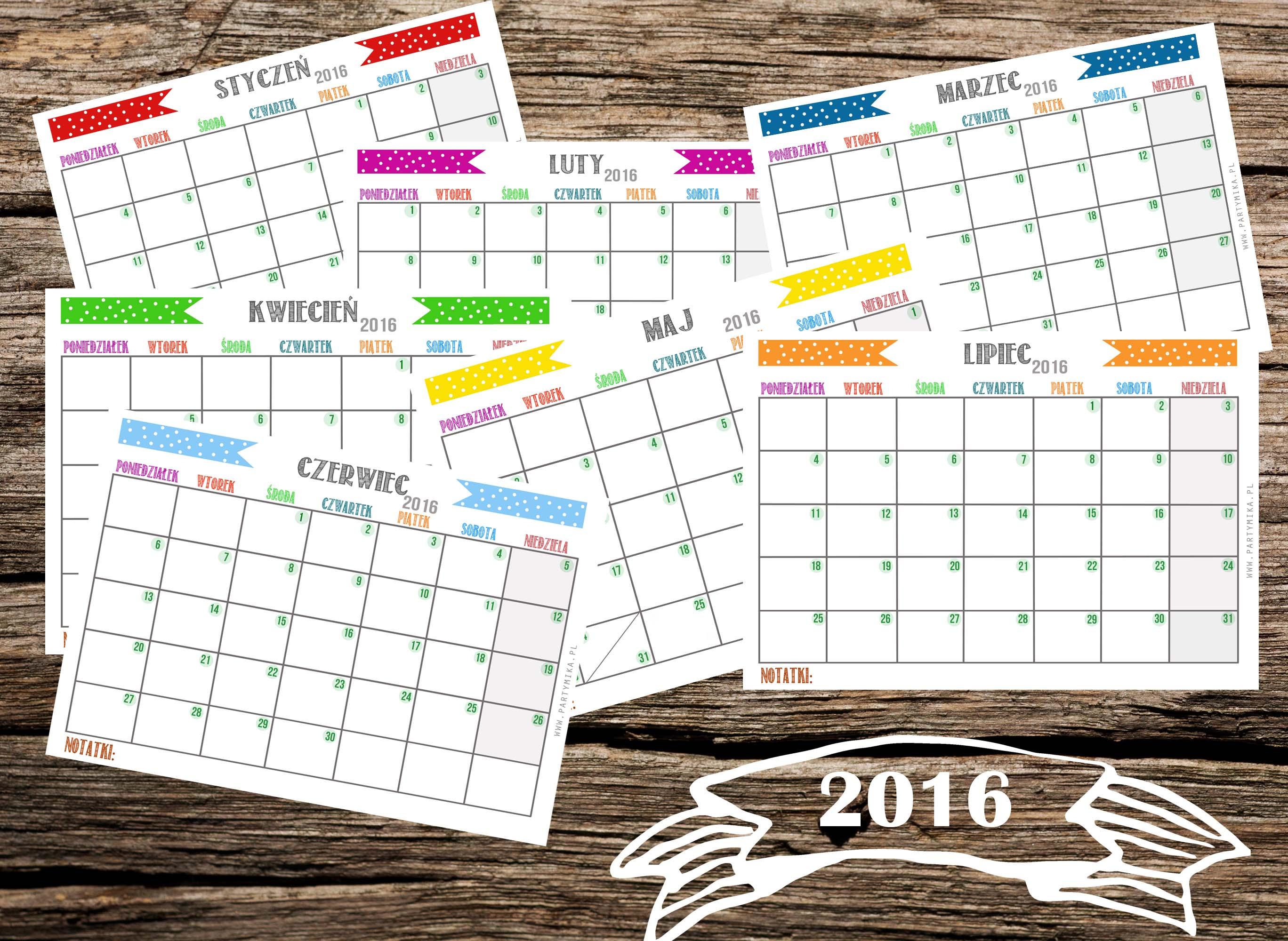 Kalendarz do druku 2016 rok! - partymika