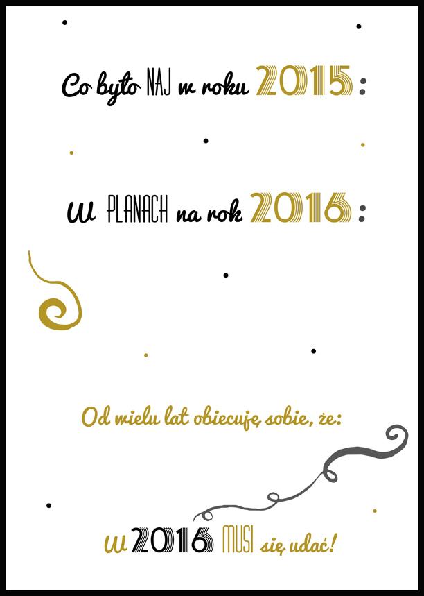 postanowienia noworoczne szablon do druku
