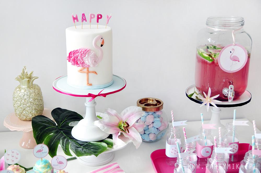 dekoracje-na-urodziny-z-flamingami