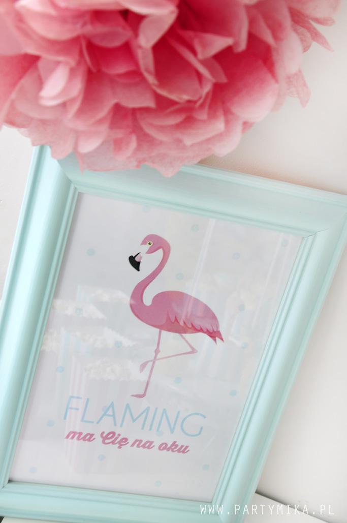 plakat-z-flamingiem