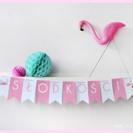 Pink flamingo i tropical party