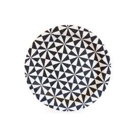 talerze jednorazowe biało czaarne