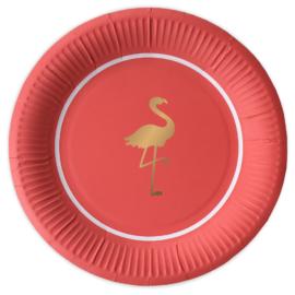 Talerzyki z flamingiem