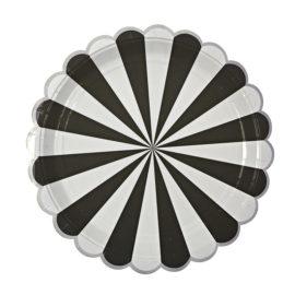 talerzyki czarno srebrne