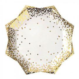 talerzyki złote gwiazdki